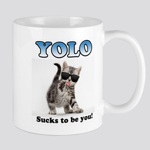 YOLO Cat Mugs