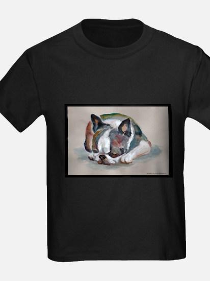 Sleeping Boston Terrier T