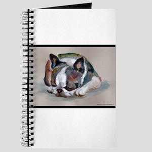 Sleeping Boston Terrier Journal