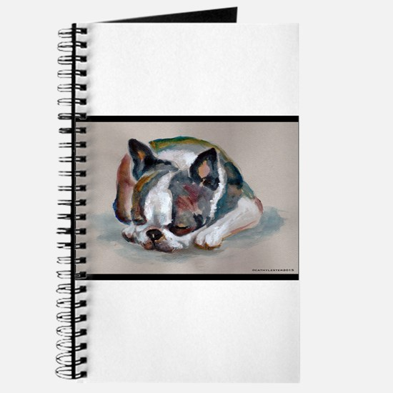 Sleeping Boston Terrier Journal
