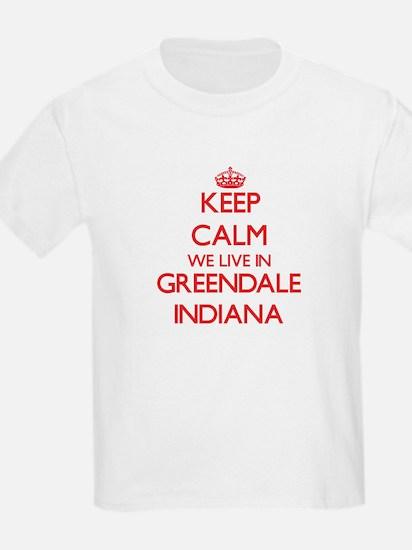 Keep calm we live in Greendale Indiana T-Shirt