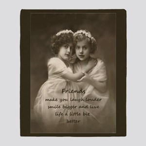 Friends Inspirational Quote Vintage Throw Blanket