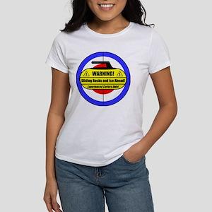"""Warning! Sliding Rocks..."" Women's T-Shirt"