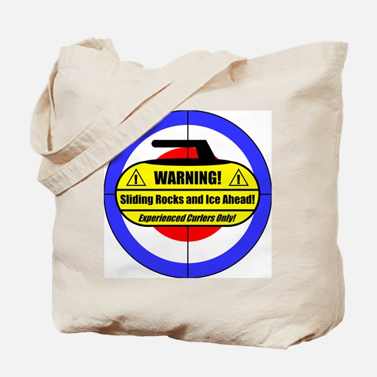 """Warning! Sliding Rocks..."" Tote Bag"