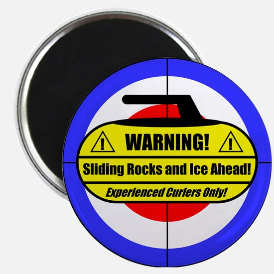 """Warning! Sliding Rocks..."" Magnet"