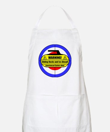 """Warning! Sliding Rocks..."" BBQ Apron"