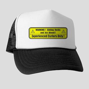"""""""Warning! Sliding Rocks..."""" Trucker Hat"""