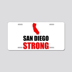San Diego Strong Aluminum License Plate