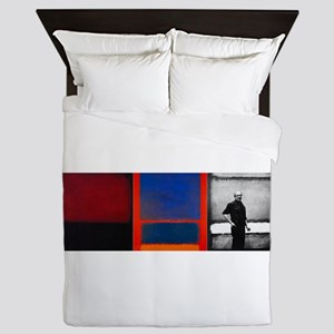 ROTHKO 2 PAINTS AND SELF Queen Duvet
