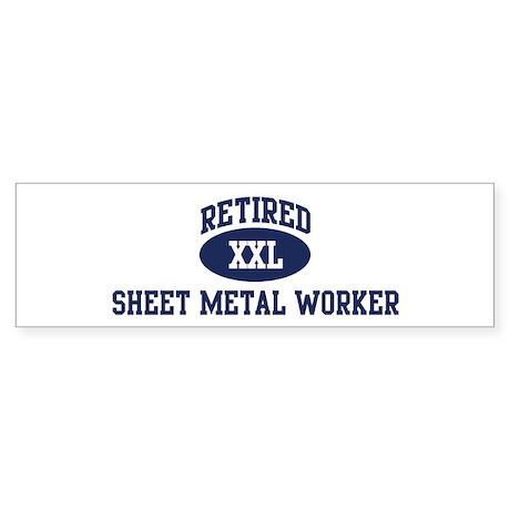 Retired Sheet Metal Worker Bumper Sticker