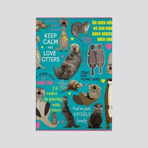 Otters Rectangle Magnet Magnets