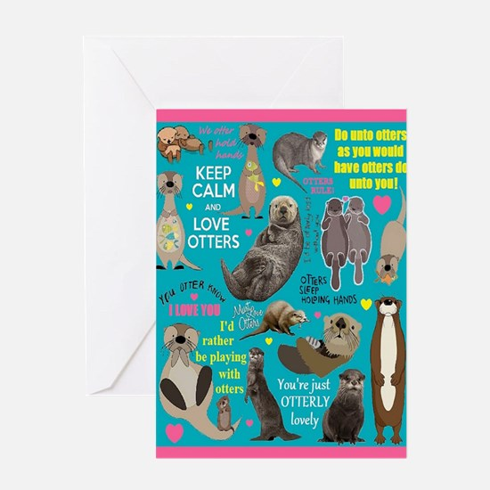 Otters Card Greeting Cards