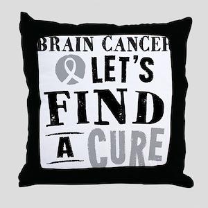 Brain Cancer cure Throw Pillow