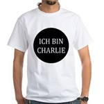 Charlie in German White T-Shirt