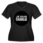 Je suis Char Women's Plus Size V-Neck Dark T-Shirt