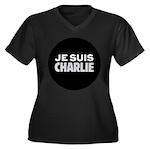 Je suis Char Women's Plus Size V-Neck Dark T-Shirt