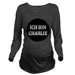 Charlie in German Long Sleeve Maternity T-Shirt