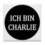 Charlie in German Tile Coaster