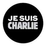 Je Suis Charlie Round Car Magnet