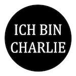 Charlie in German Round Car Magnet