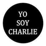 Yo Soy Charlie Round Car Magnet