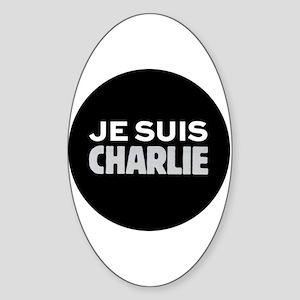 Je suis Charlie Sticker (Oval)