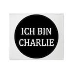 Charlie in German Throw Blanket