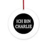 Charlie In German Ornament (round)