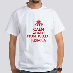 Keep calm we live in Monticello Indiana T-Shirt