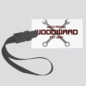 Woodward Ave Auto Repair Large Luggage Tag
