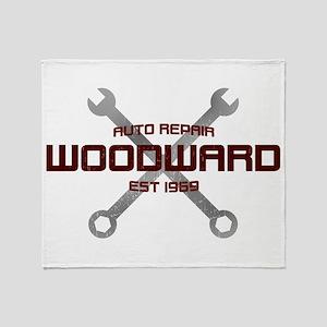 Woodward Ave Auto Repair Throw Blanket