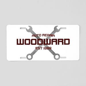 Woodward Ave Auto Repair Aluminum License Plate