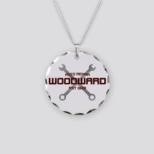 Woodward Ave Auto Repair Necklace Circle Charm