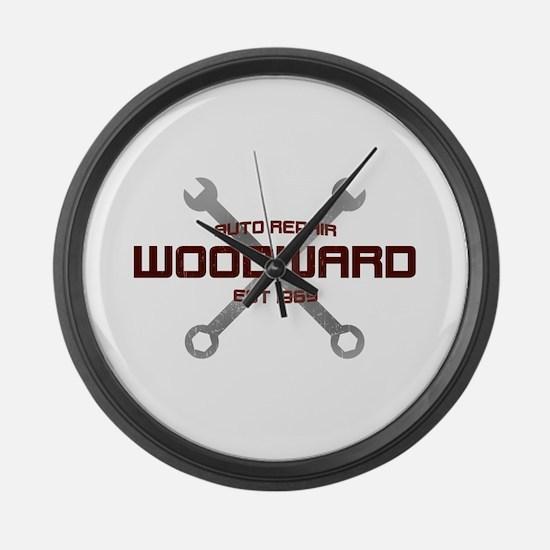 Woodward Ave Auto Repair Large Wall Clock