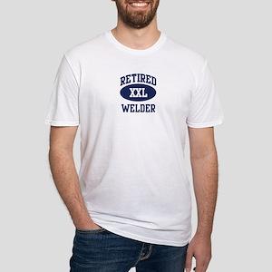 Retired Welder Fitted T-Shirt