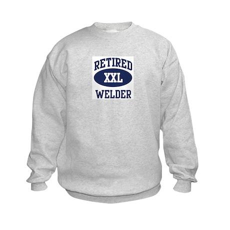Retired Welder Kids Sweatshirt