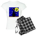 Black Cat Halloween Witch Pajamas