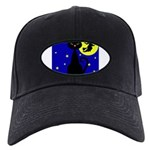 Black Cat Halloween Witch Baseball Hat