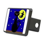 Black Cat Halloween Witch Hitch Cover