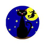 Black Cat Halloween Witch 3.5