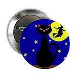 Black Cat Halloween Witch 2.25