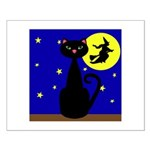 Black Cat Halloween Witch Posters