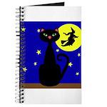 Black Cat Halloween Witch Journal