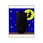 Black Cat Halloween Witch Picture Frame