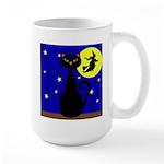 Black Cat Halloween Witch Mugs