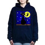 Black Cat Halloween Witch Women's Hooded Sweatshir
