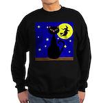 Black Cat Halloween Witch Sweatshirt