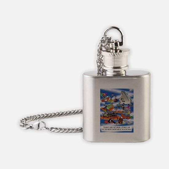 Boat Cartoon 8280 Flask Necklace
