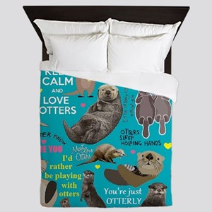 Otters Queen Duvet