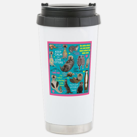 Otters Stainless Steel Travel Mug